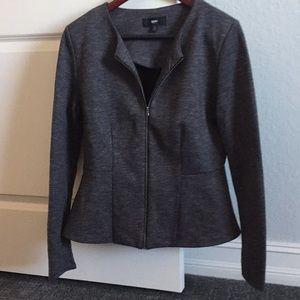 Mossimo Gray Peplum Zip Up Jacket - Reposh